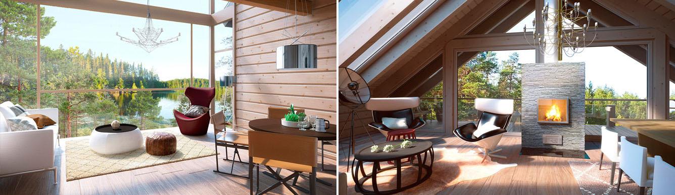 naava chalet archives blockh user moderne holzh user polar life haus. Black Bedroom Furniture Sets. Home Design Ideas